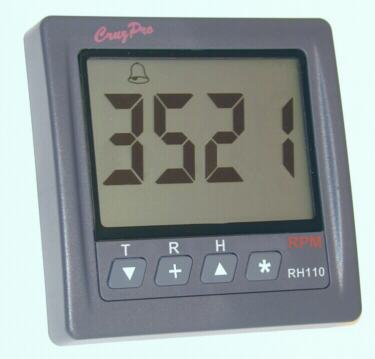 RH110 RPM, Engine Hours, Elapsed Time Gauge