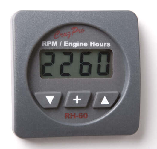 RH60 Digital Tachometer, Engine Hours and Elapsed Time Gauge with Alarms
