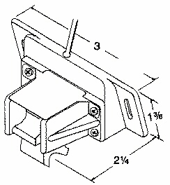 TMST-2 Transom mount spped/temp. transducer dimensions